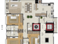 Planta 01 - 3 dorm 123 22m²