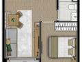 Planta 01 - 1 dorm 29m²
