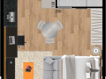 Planta 06 - 29 2m² - studio