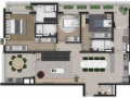 Planta 06 - 3 dorm 140m²