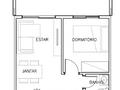 Planta 03 - 1 dorm 40 64m² - garden
