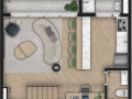 Planta 12 - 2 dorm 91m² - duplex inferior
