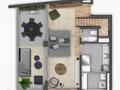 Planta 04 - 2 dorm 104 48m² - duplex inferior