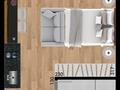 Planta 01 - 22 9m² - studio