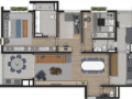 Planta 03 - 2 dorm 128m²