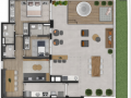 Planta 14 - 2 dorm 128m² - garden