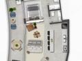 Planta 03 - 1 dorm 62 43m² - loft