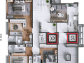 Planta 03 - 3 dorm 247 90m² - cobertura duplex inferior
