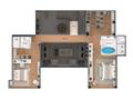 Planta 06 - 4 dorm 345 80m² - garden - superior