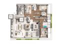 Planta 03 - 3 dorm 288m² - opção 2