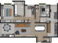 Planta 02 - 2 dorm 140m²