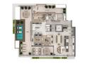 Planta 07 - 4 dorm 324 03m² - cobertura duplex - inferior