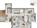 Planta 08 - 3 dorms 224m² - duplex superior