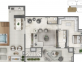 Planta 10 - 4 dorms 267m² - duplex superior