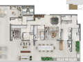 Planta 04 - 3 dorms 113m² - garden