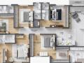 Planta 04 - 5 dorm 314 54m² - duplex inferior