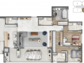 Planta 06 - 3 dorms 136m²