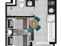 Planta 01 - 1 dorm 18m² - studio