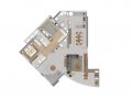 Planta 02 - 4 dorm 226m² - duplex inferior