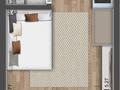 Planta 02 - 1 dorm 26m² - studio
