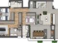 Planta 05 - 3 dorm 105m²