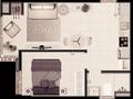 Planta 05 - 1 dorm 33 90m²