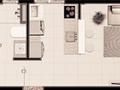 Planta 07 - 1 dorm 39 06m²