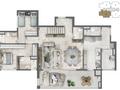 Planta 07 - 3 dorms 224m² - duplex inferior
