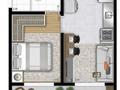 Planta 03 - 1 dorm 29 10m²