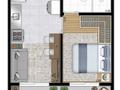 Planta 02 - 1 dorm 28 60m²
