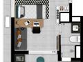 Planta 03 - 1 dorm 27m² - studio