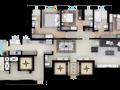 Planta 01 - 3 dorm 145 55m²