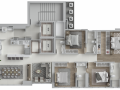 Planta 01 - 4 dorm 140m²