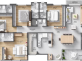 Planta 01 - 4 dorm 157 25m²