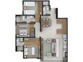 Planta 03 - 3 dorm 252 47m² - duplex inferior