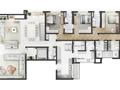 Planta 03 - 4 dorm 493m² - cobertura duplex inferior