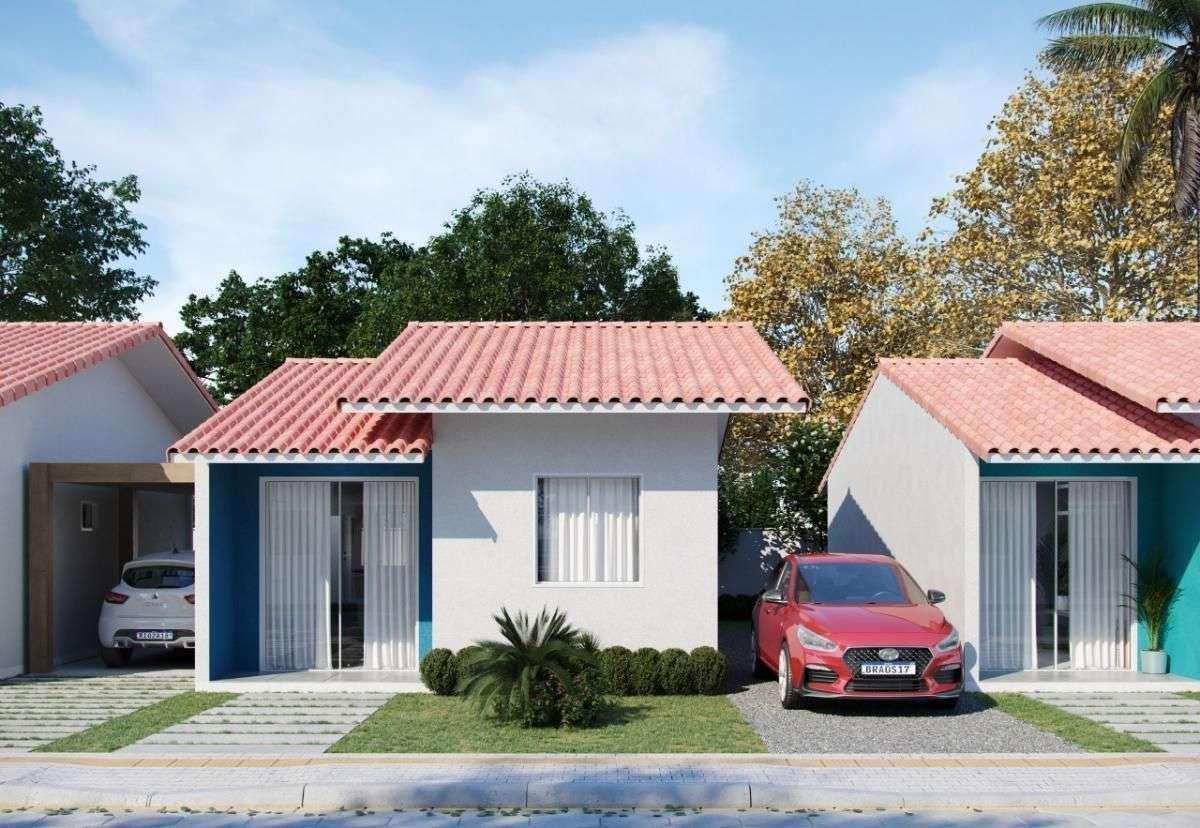 Casa em  condomínio fechado  com área de lazer completa em Araquari - SC..