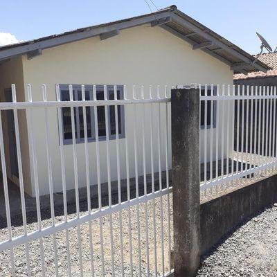 Casa com 2 quartos para locação, 60 m² por R$ 650,00 - Itapocu - Araquari /SC