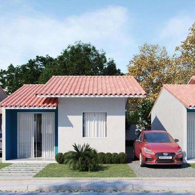 Casa modelo PNE (Portador de Necessidade Especiais) em  condomínio fechado  com área de lazer completa em Araquari - SC.