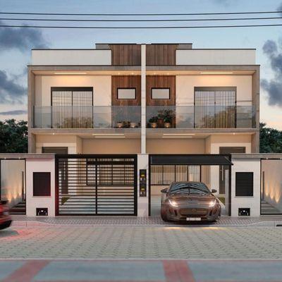 Sobrado 3 quartos - Balneário Piçarras - SC - Alto padrão com piscina.