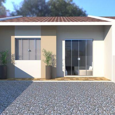 Casa c/ 48,21m², 2 quartos, amplo terreno nos fundos, R$155.000,00 - Lot. São José