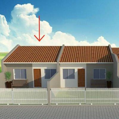 ► Casa nova c/ 55,30m², 01 suíte + 01 quarto, 400m do mar - Balneário Alvorada