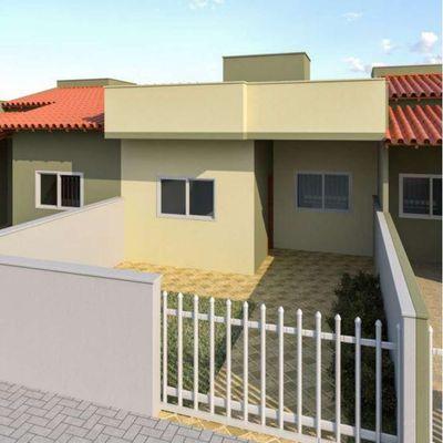 Casas novas c/ 02 quartos, 58,62m² - 700m do mar, Baln. Itapoá