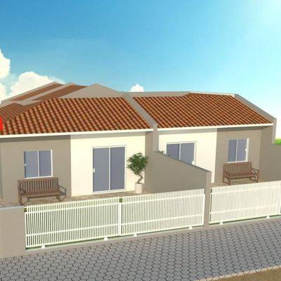 ► Casa de esquina c/ 42,87m², 02 quartos, 400m do mar - Balneário Alvorada