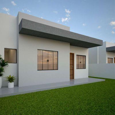 Casa nova no Balneário Volta ao Mundo I com 03 dormitórios