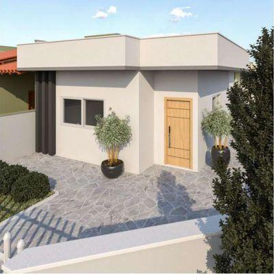 Casa nova, esquina, 79m², suíte + 02 quartos - Balneário Itapoá