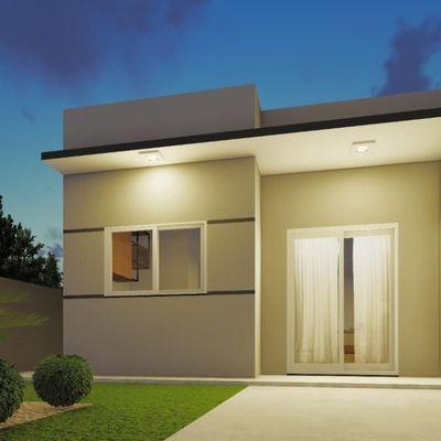 ► Casa nova c/ 49,95m², 02 quartos, terreno livre. Balneário Mariluz