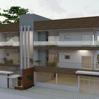 Apartamentos novos c/ 1suíte + 2 quartos, frente para Av. Pérola - Baln. Jd Pérola do Atlântico