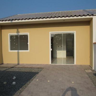 Casa nova, c/ 40,25m², 2 dormitórios, R$120.000,00. Balneário Parque