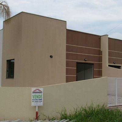 Casa nova de esquina c/ 49,69m², 2 quartos, Balneário Itapoá